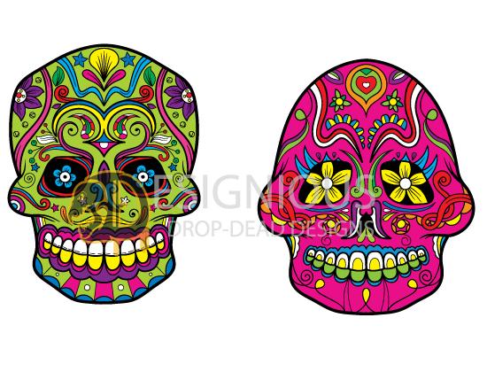 Sugar Skulls Vector Pack 4 products designious sugar skulls vector pack 4 preview 4