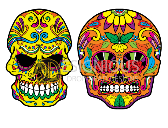 Sugar Skulls Vector Pack 4 products designious sugar skulls vector pack 4 preview 5