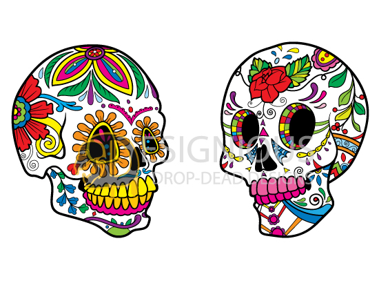 Sugar Skulls Vector Pack 5 products designious sugar skulls vector pack 5 preview 3