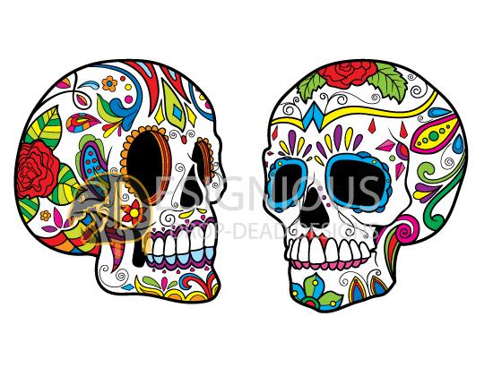Sugar Skulls Vector Pack 5 products designious sugar skulls vector pack 5 preview 4