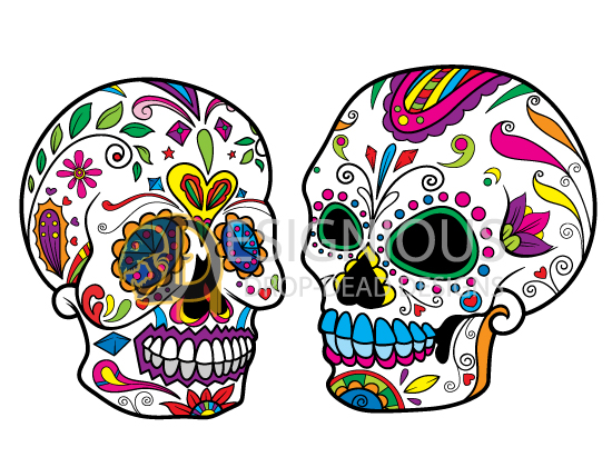 Sugar Skulls Vector Pack 5 products designious sugar skulls vector pack 5 preview 5