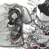 T-shirt design 394 – Archangel and Flowers T-shirt Designs and Templates vector