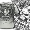 T-shirt design 398 - Bali Demon and Flowers products designious tshirt design 396