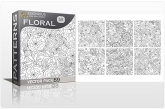 Seamless Patterns Vector Pack 59 – Floral Chaos Vector Patterns vector