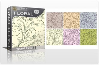 Seamless Patterns Vector Pack 61 – Floral Chaos Vector Patterns [tag]