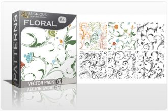 Seamless Patterns Vector Pack 64 – Floral Chaos Vector Patterns [tag]
