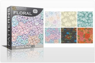 Seamless Patterns Vector Pack 65 – Floral Chaos Vector Patterns [tag]