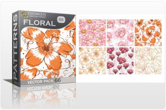 Seamless Patterns Vector Pack 66 – Floral Watercolor Vector Patterns [tag]