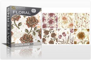 Seamless Patterns Vector Pack 68 – Flowers Freebies [tag]
