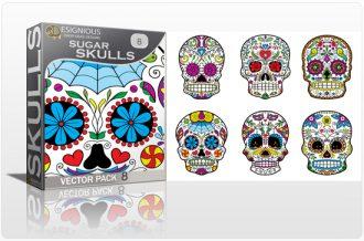 Sugar Skulls Vector Pack 8 Skulls halloween