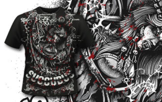 T-shirt Design 400 – Succubus T-shirt Designs and Templates vector