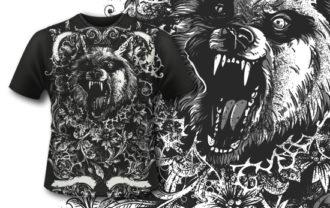 T-shirt Design 402 – Werewolf T-shirt Designs and Templates vector
