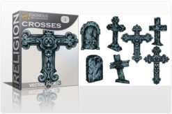 Crosses Vector Pack 3 Religion [tag]