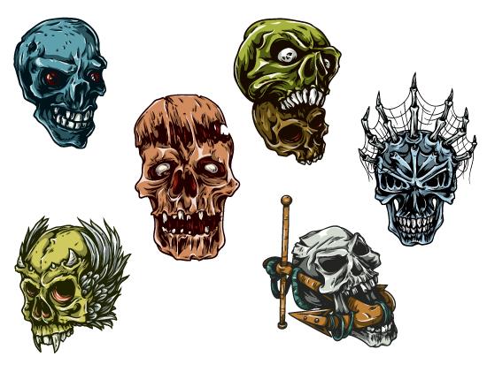 Skulls Vector Pack 25 Skulls [tag]