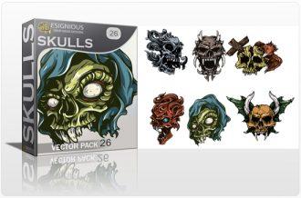 Skulls Vector Pack 26 Skulls [tag]