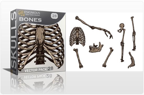 Skulls Vector Pack 28 Skulls [tag]