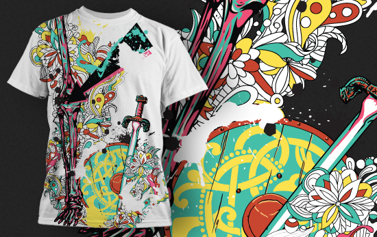 T-shirt Design 431 T-shirt Designs and Templates urban