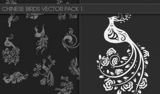 Chinese Birds Vector Pack 1 Oriental Art bird
