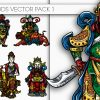 Chinese Glyphs Vector Pack 1 products designious chinese gods vector pack 1 small