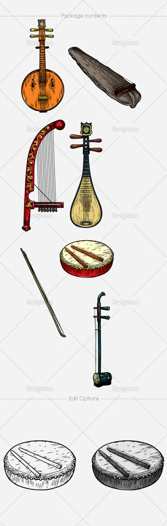 Chinese Music Instruments Vector Pack 1 products designious chinese music instruments vector pack 1 large 1