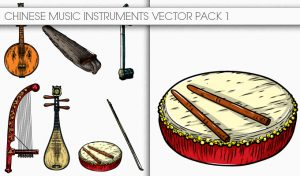 Chinese Music Instruments Vector Pack 1 Oriental Art [tag]