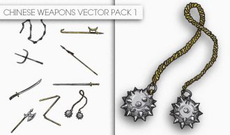 Chinese Weapons Vector Pack 1 Oriental Art [tag]