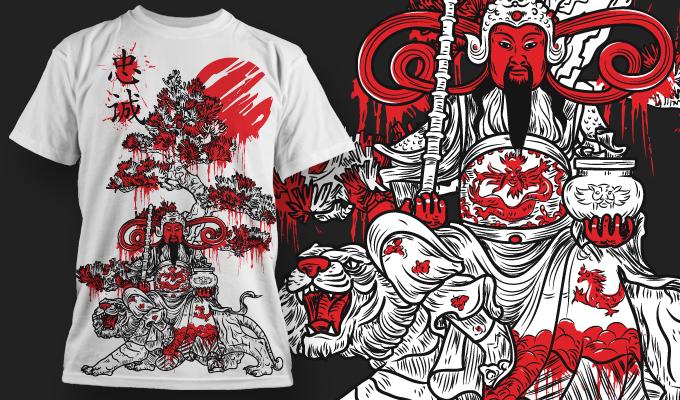 T-shirt Design 441 T-shirt designs and templates vector