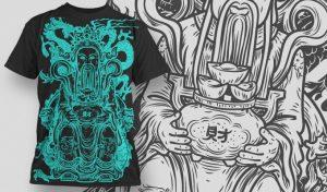 T-shirt Design 445 T-shirt designs and templates vector