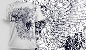 T-shirt Design 456 T-shirt designs and templates vector