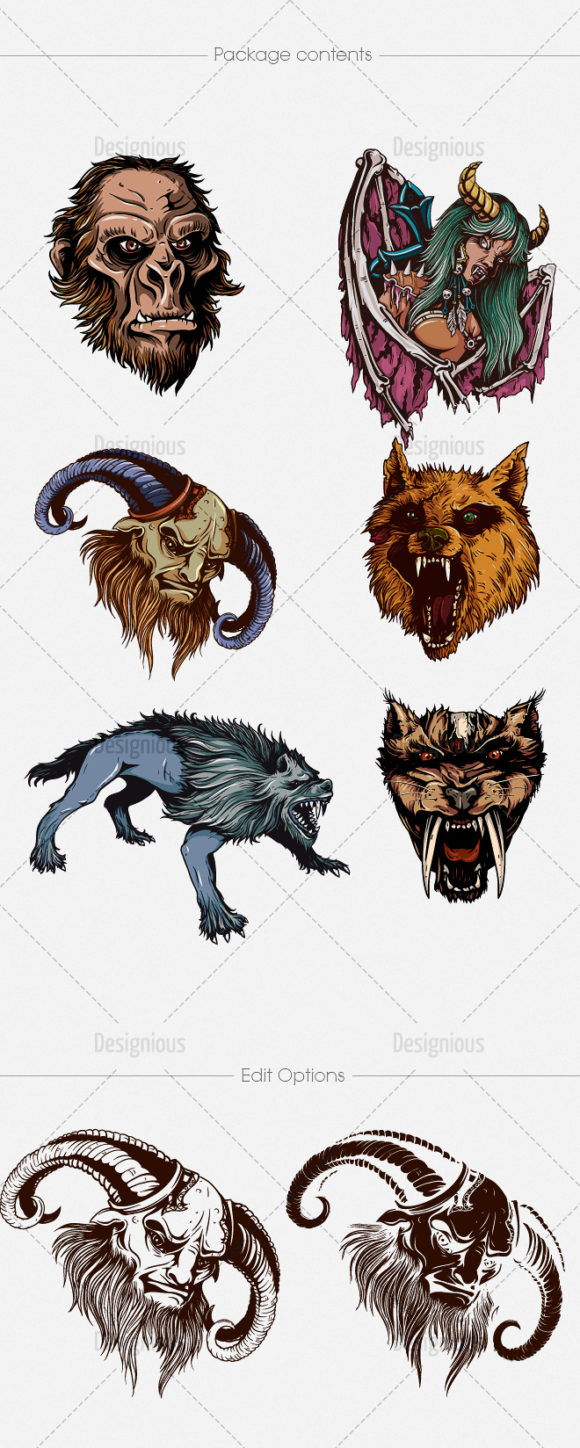 Mythical Creatures Vector Pack 1 products designious vector mythical creatures 1 large 1