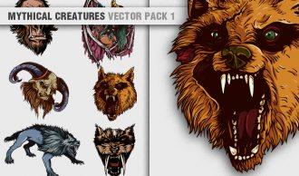 vector mythical creatures with succubus, satyr, adjule, bladenboro, Bigfoot and the beast of Gévaudan