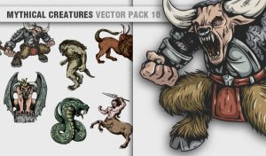 Mythical Creatures Vector Pack 10 Religion [tag]