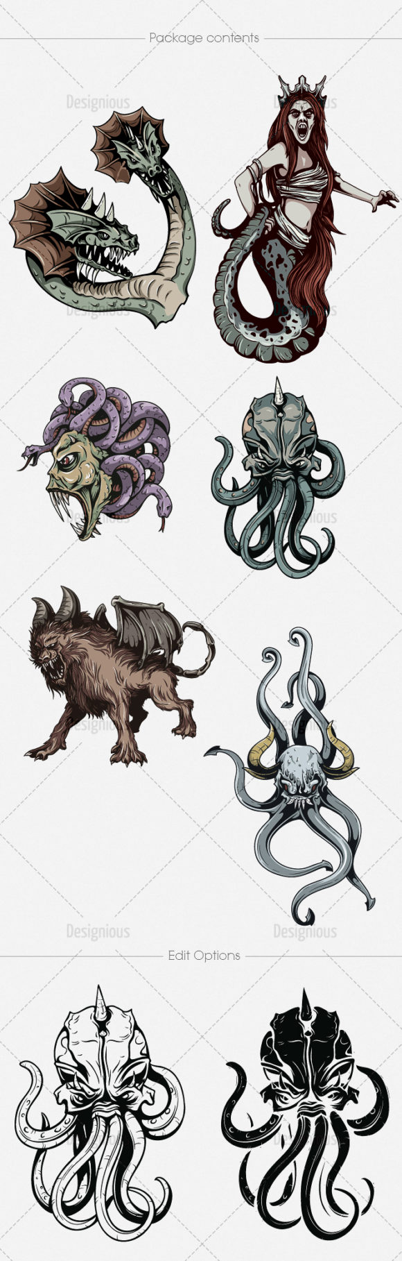Mythical Creatures Vector Pack 2 Religion [tag]