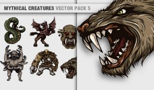 Mythical Creatures Vector Pack 5 Religion [tag]