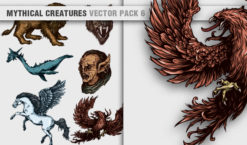 Mythical Creatures Vector Pack 6 Religion [tag]