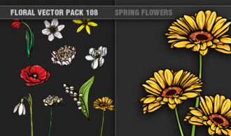 Full library Pricing products designious floral vector pack 108 small