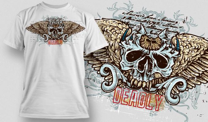 T-shirt Design 460 T-shirt designs and templates vector
