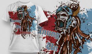 T-shirt Design 464 T-shirt designs and templates vector