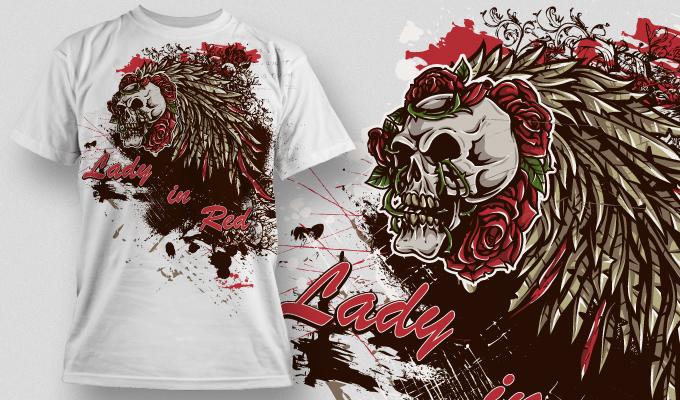 T-shirt Design 467 T-shirt designs and templates vector