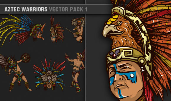 Aztec Warriors Vector Pack 1 People [tag]