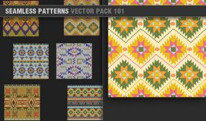 Free Seamless Patterns Vector Pack 101 Patterns vector