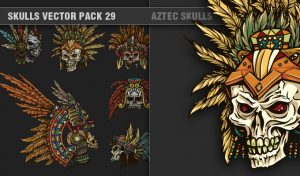 Skulls Vector Pack 29 Skulls [tag]