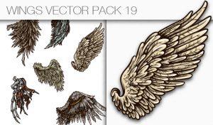 Wings Vector Pack 19 Wings [tag]