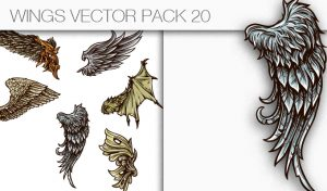 Wings Vector Pack 20 Wings [tag]