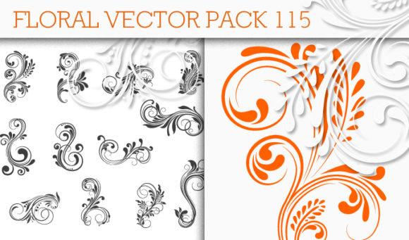 Floral Vector Pack 115 Floral floral
