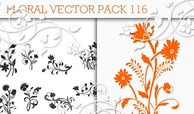 Floral Vector Pack 116 Floral floral