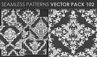 Seamless Patterns Vector Pack 102 Vector Patterns [tag]