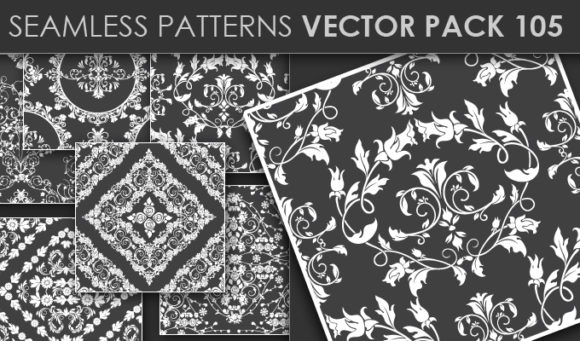 Seamless Patterns Vector Pack 105 Vector Patterns [tag]