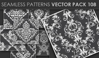 Seamless Patterns Vector Pack 108 Vector Patterns [tag]