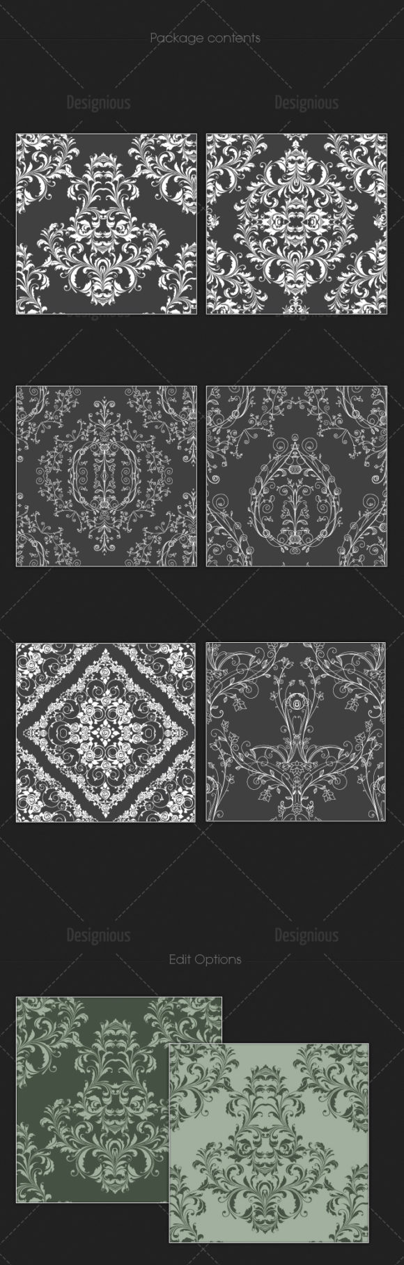 Seamless Patterns Vector Pack 110 Vector Patterns [tag]